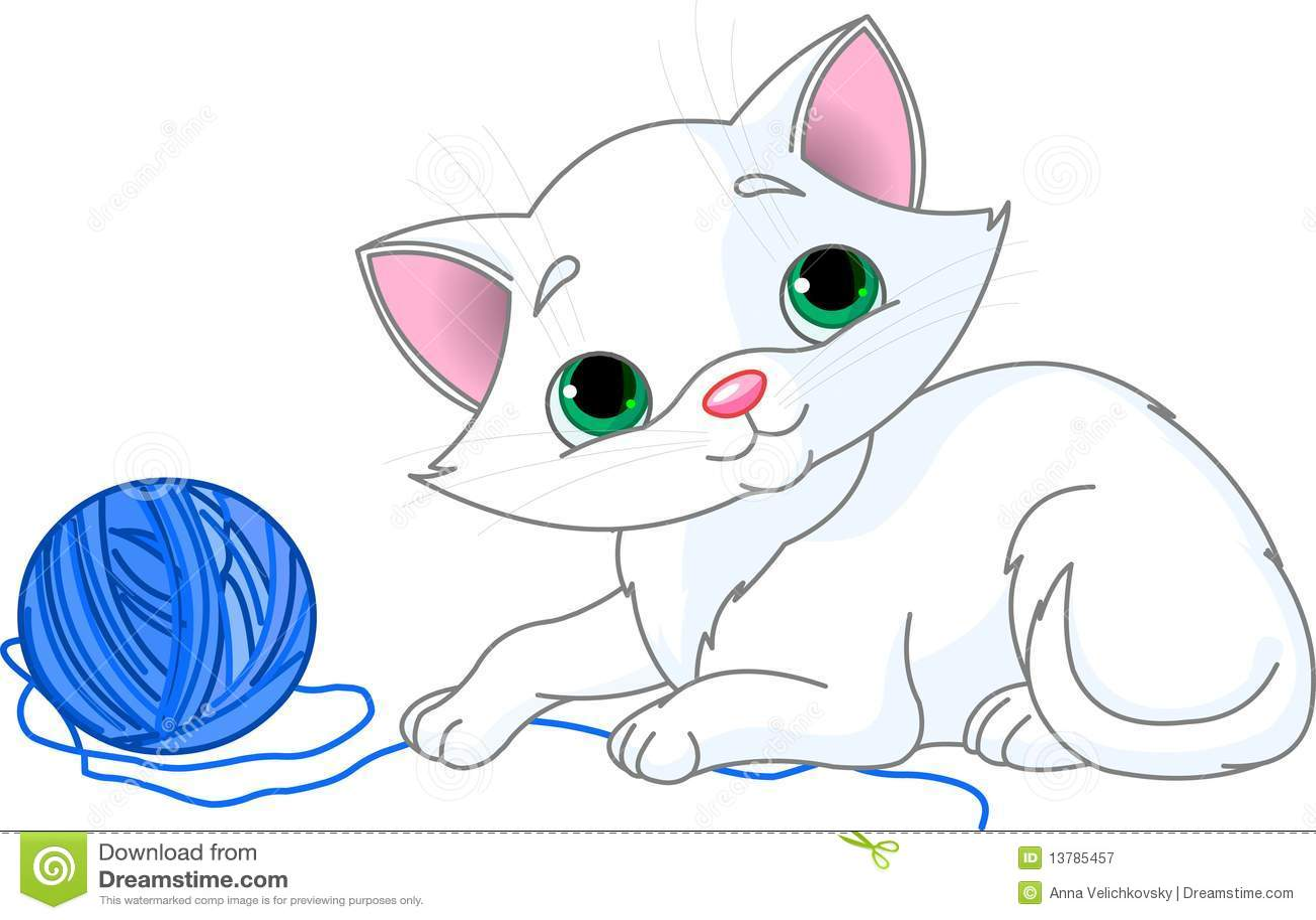 Playful White Kitten