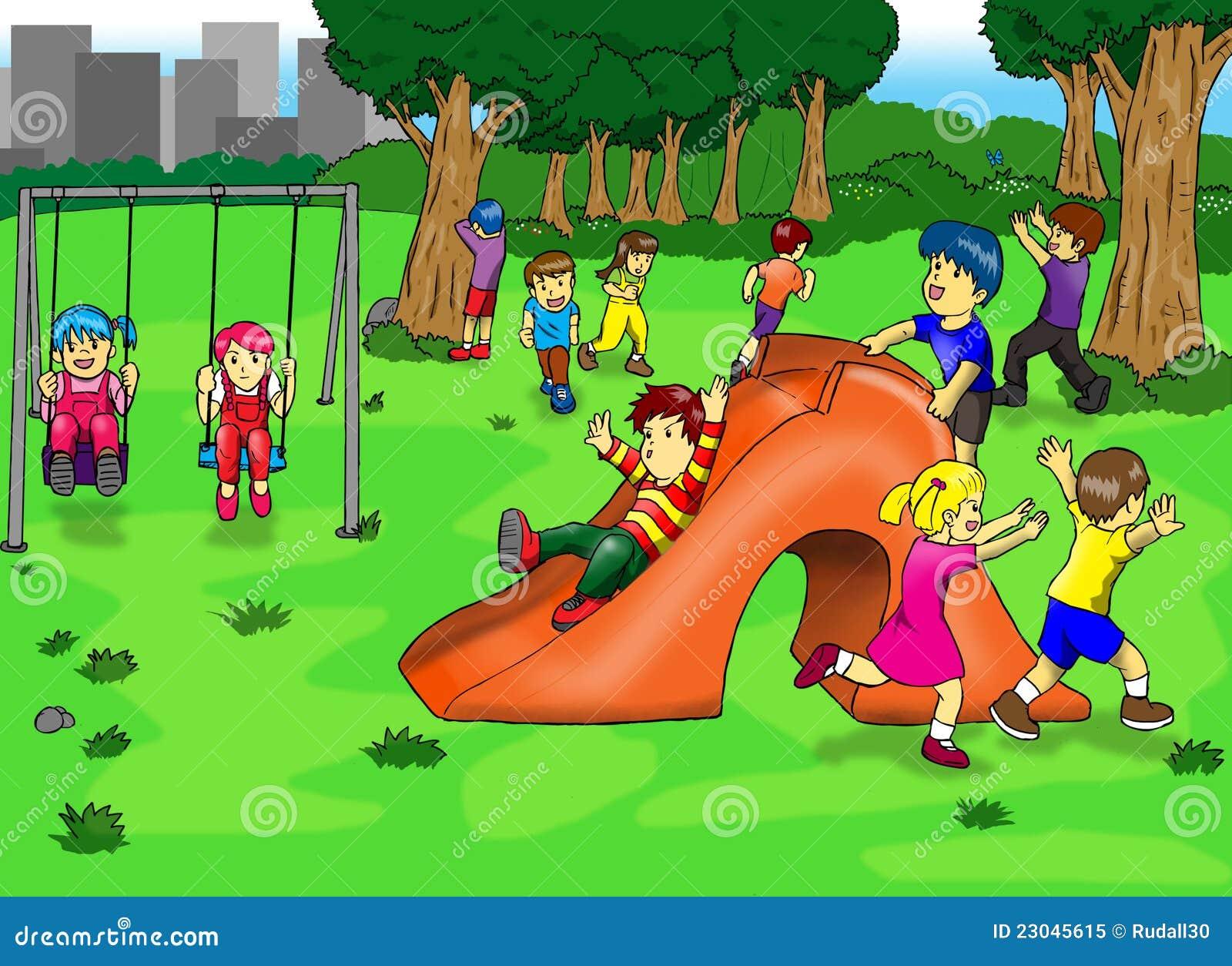 Рисовать детей в парке