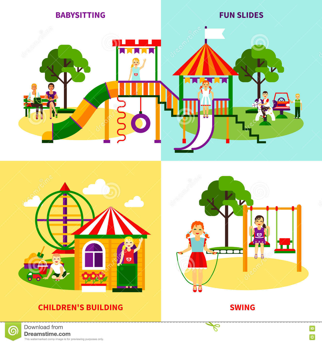 Playground Design Concept Stock Vector - Image: 72050952