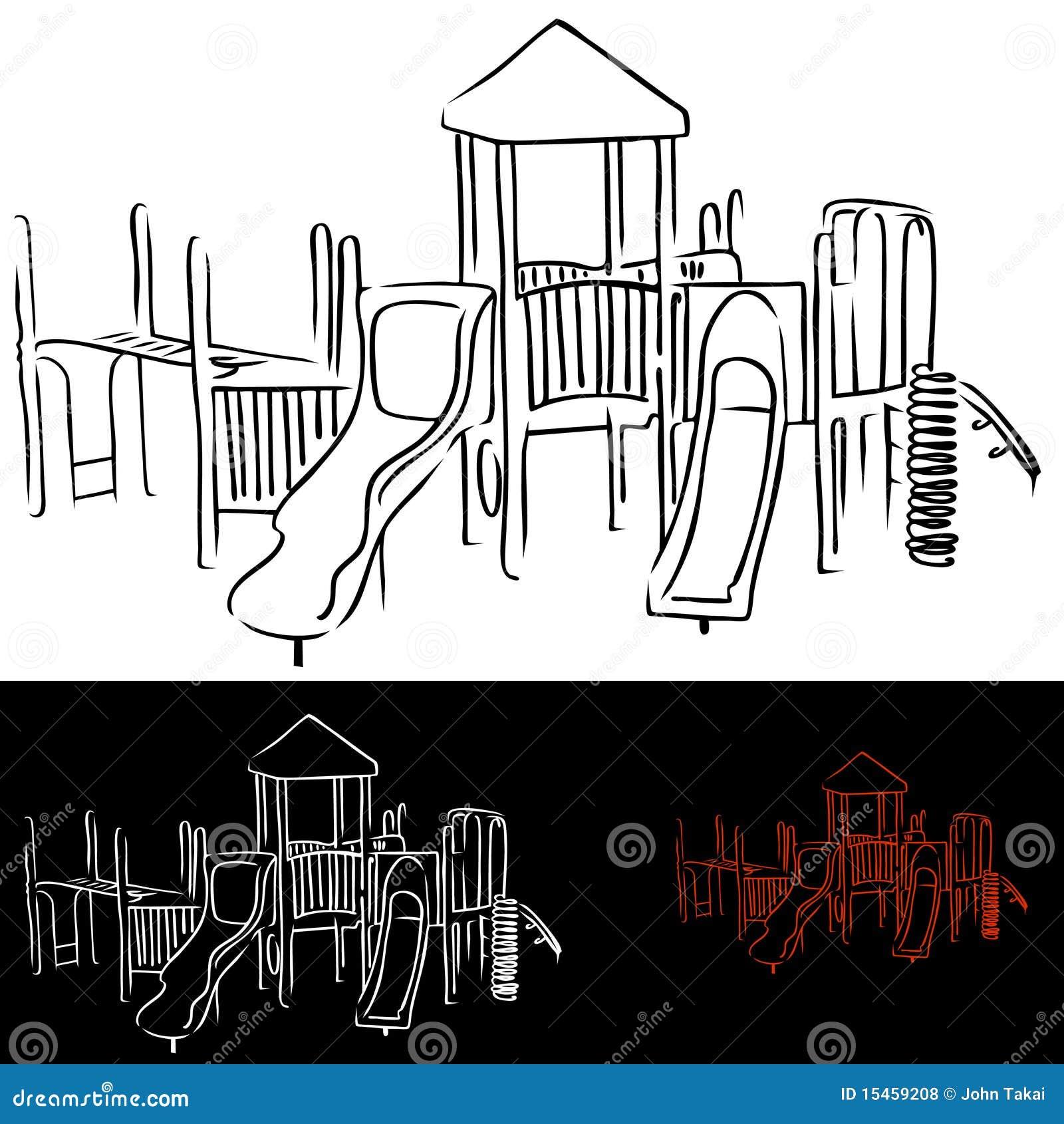 Playground Equipment stock vector. Image of recreation ...