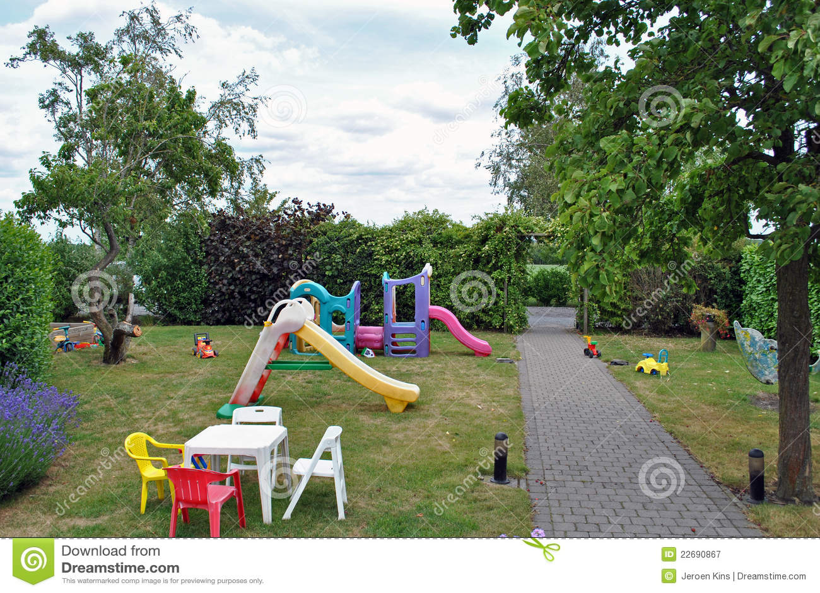 Playground Garden Royalty Free Stock Photography Image