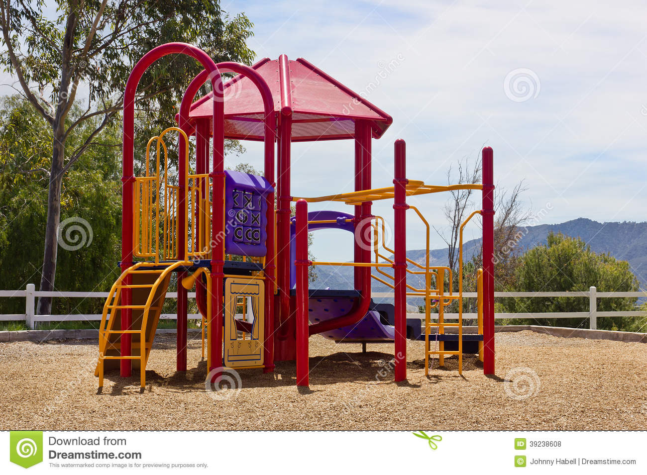 Playground On A Hill Stock Photo Image 39238608