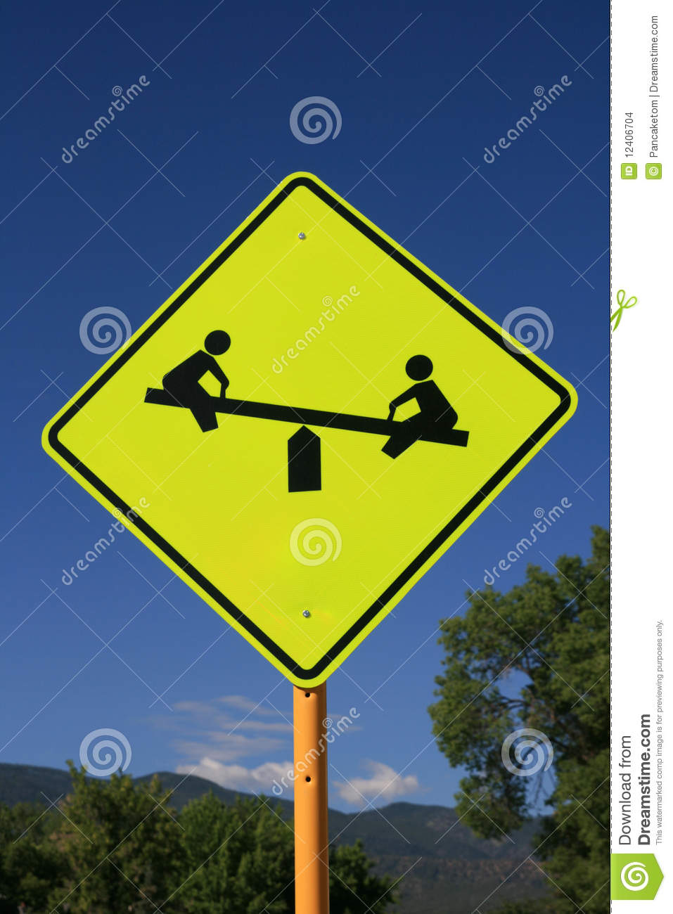 Playground Road Sign Stock Images - Image: 12406704