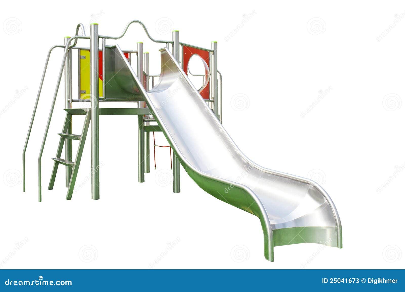 Playground Slide Isolated On White Stock Photos - Image ...