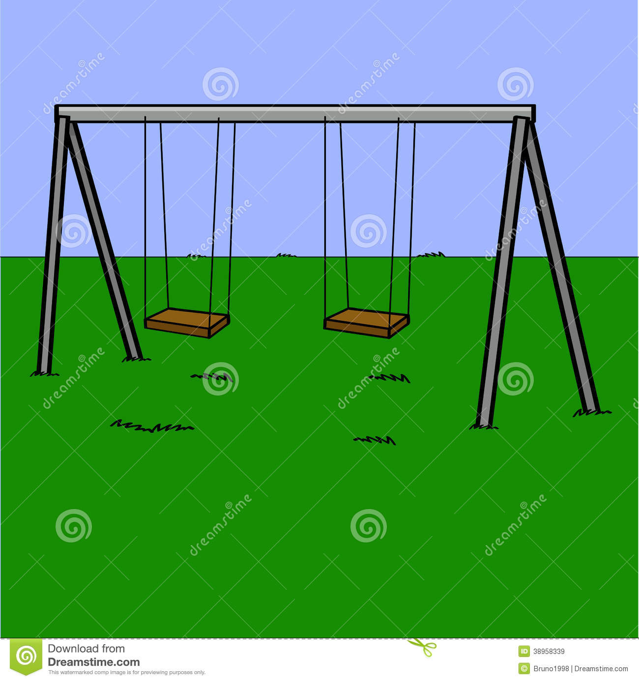 Playground Swings Stock Vector - Image: 38958339