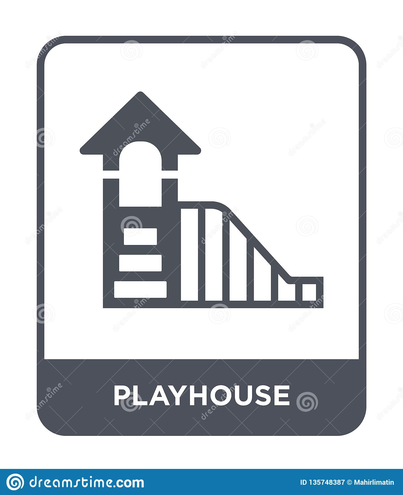 playhouse icon in trendy design style. playhouse icon isolated on white background. playhouse vector icon simple and modern flat