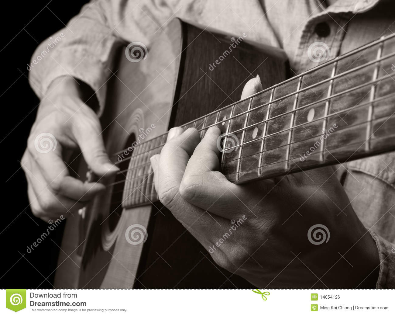 Playing Acoustic Guitar Royalty Free Stock Image - Image ...