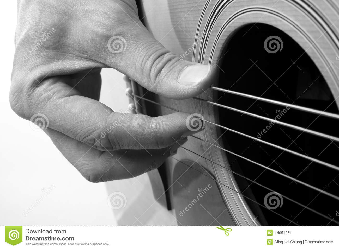 Playing Acoustic Guitar Close-up Stock Image - Image: 14054061