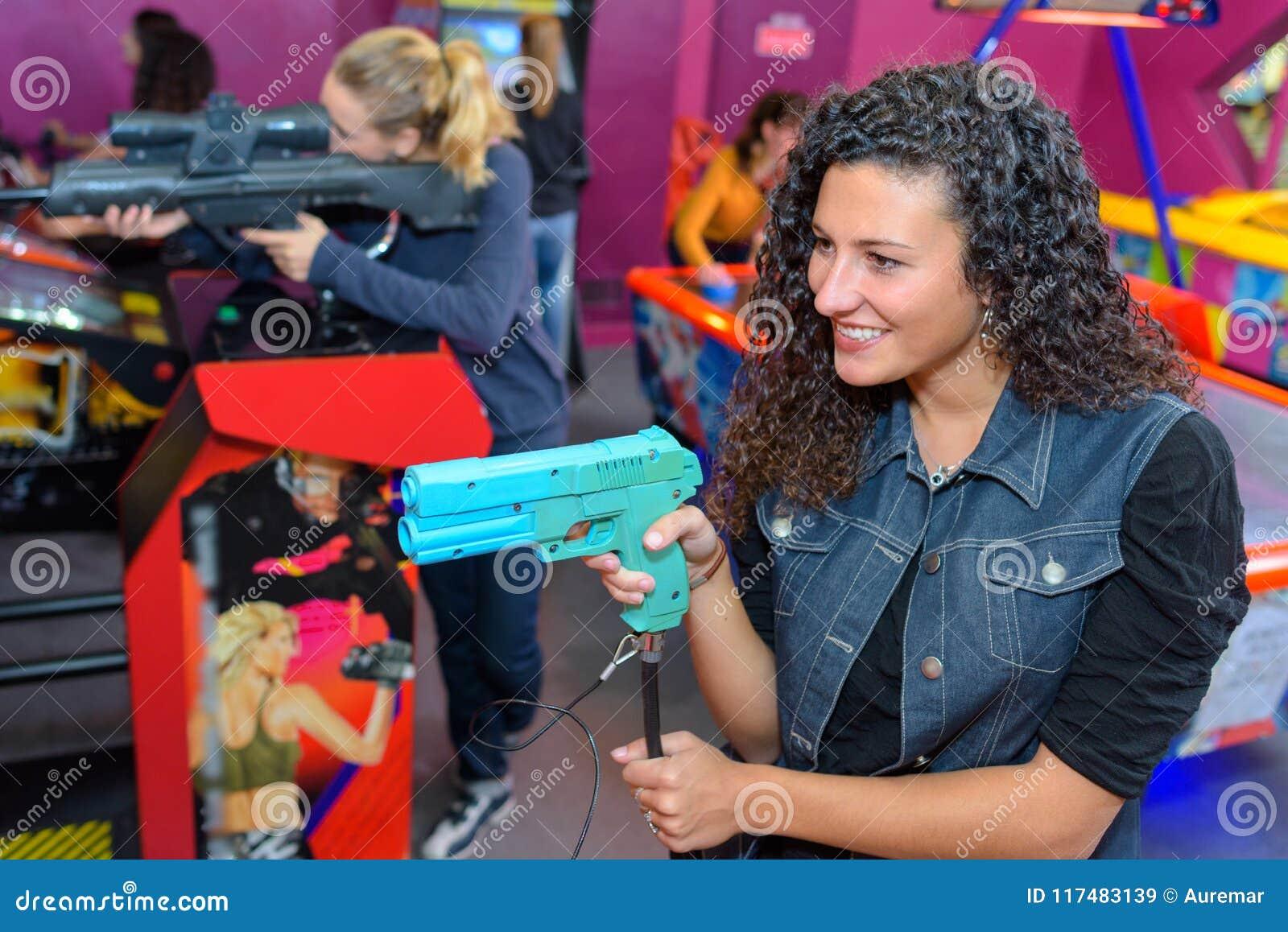 Playing at the arcade