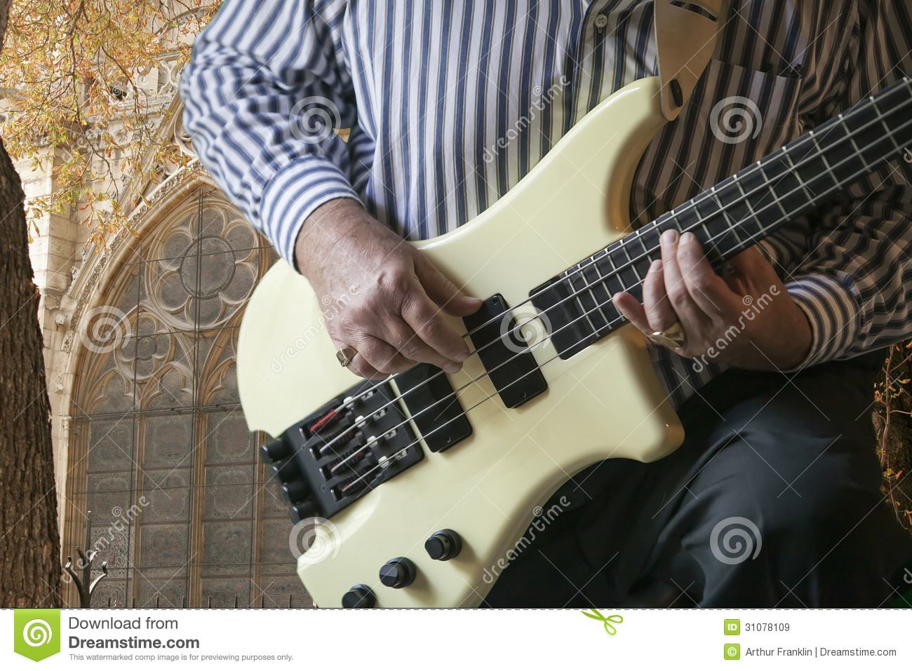 playing bass stock image image of close performance 31078109. Black Bedroom Furniture Sets. Home Design Ideas