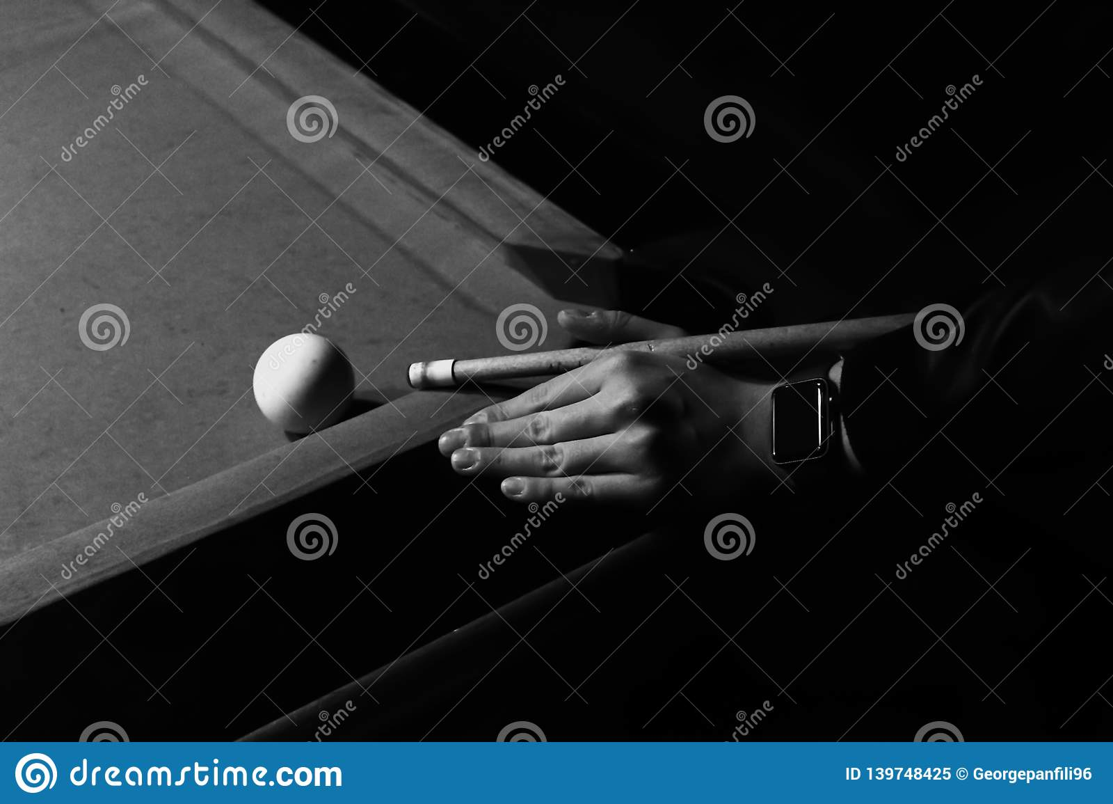 Playing in the billiards. Art photo