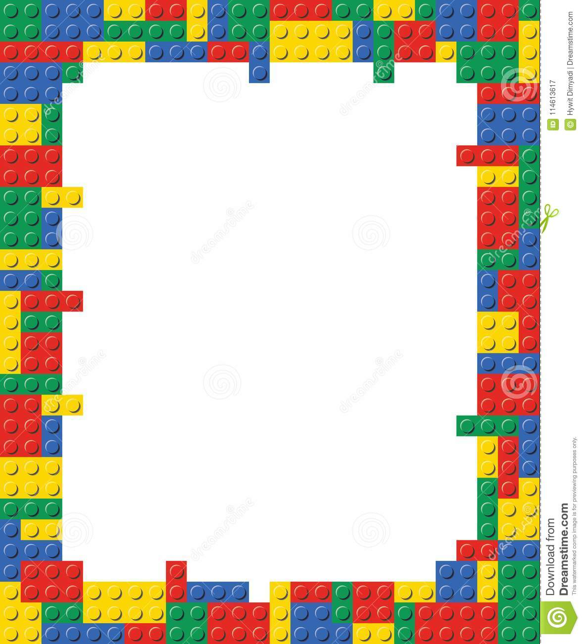 Playing Block Frame Template Background Illustration Stock Vector ...