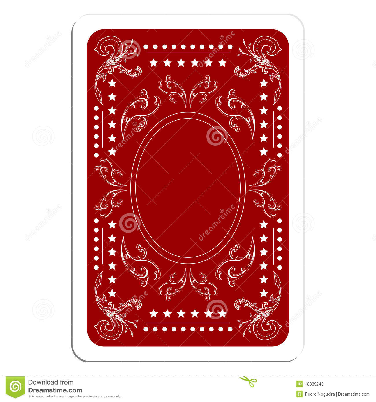 Playing Card Back Stock Photo Image 18339240