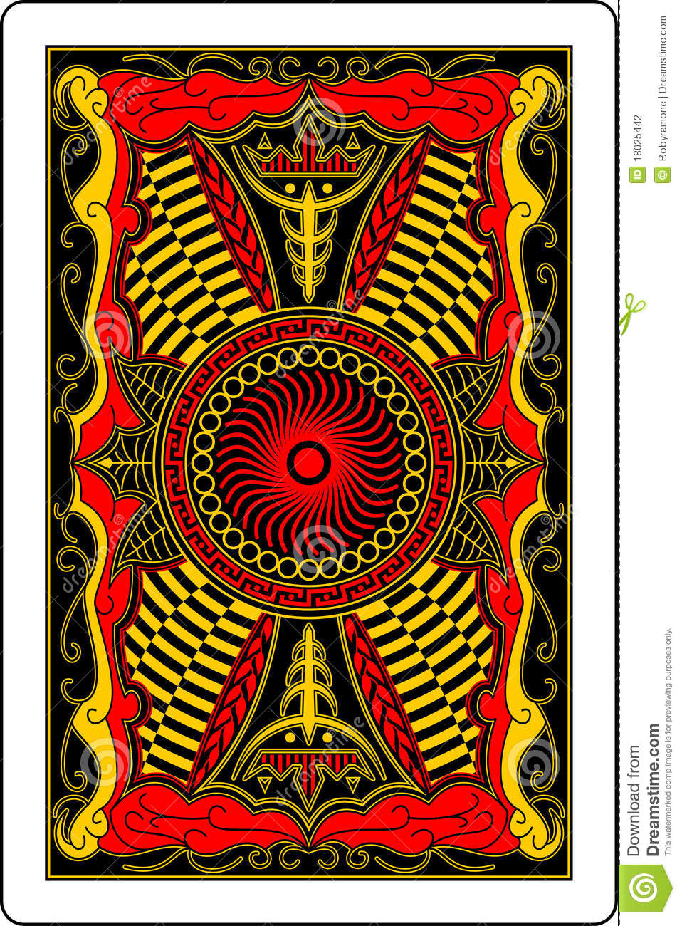 playing card back side 60x90 mm stock photography image