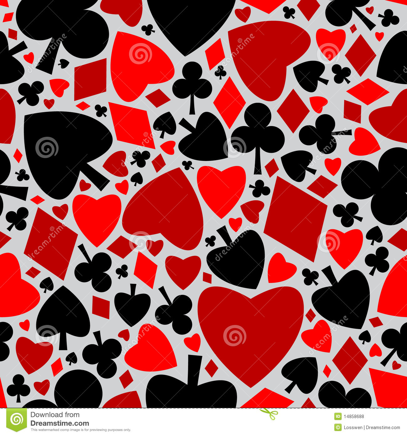 Playing card seamless pattern
