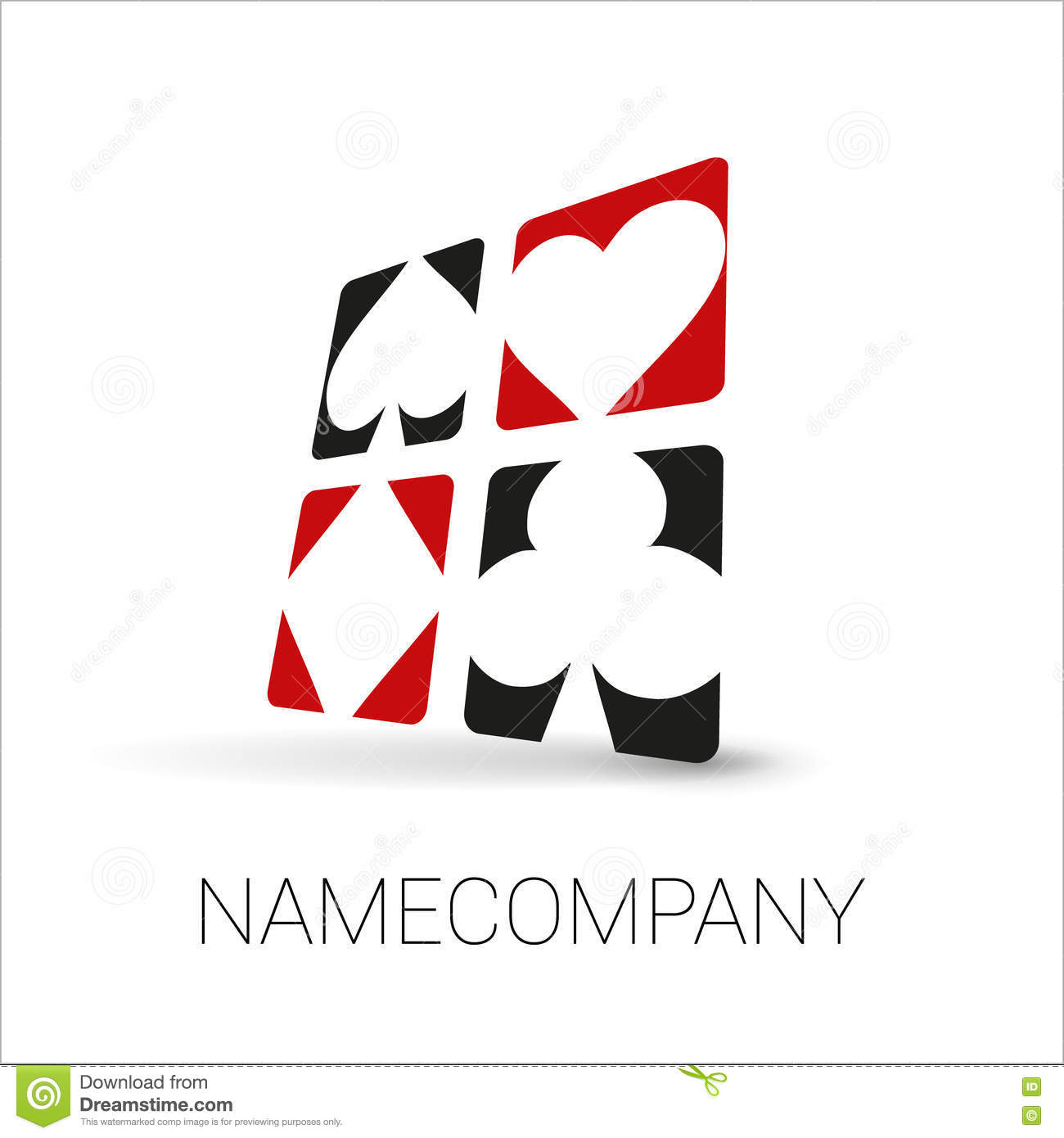 playing cards vector logo
