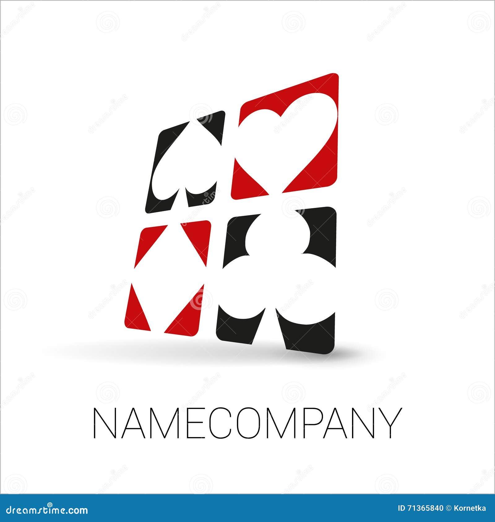 Playing card suit logo.