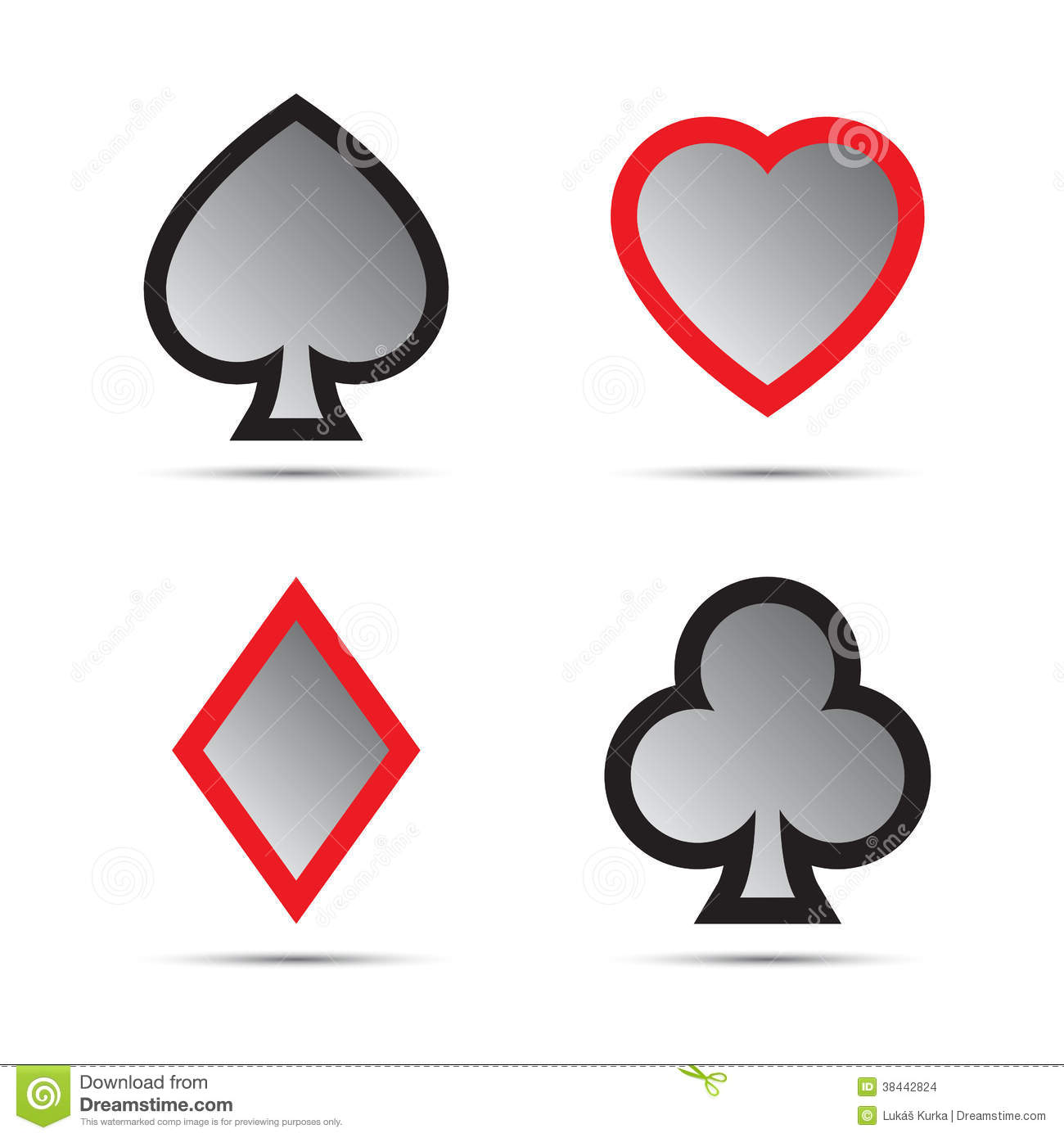 Playing Card Symbols Stock Vector Illustration Of Deck 38442824