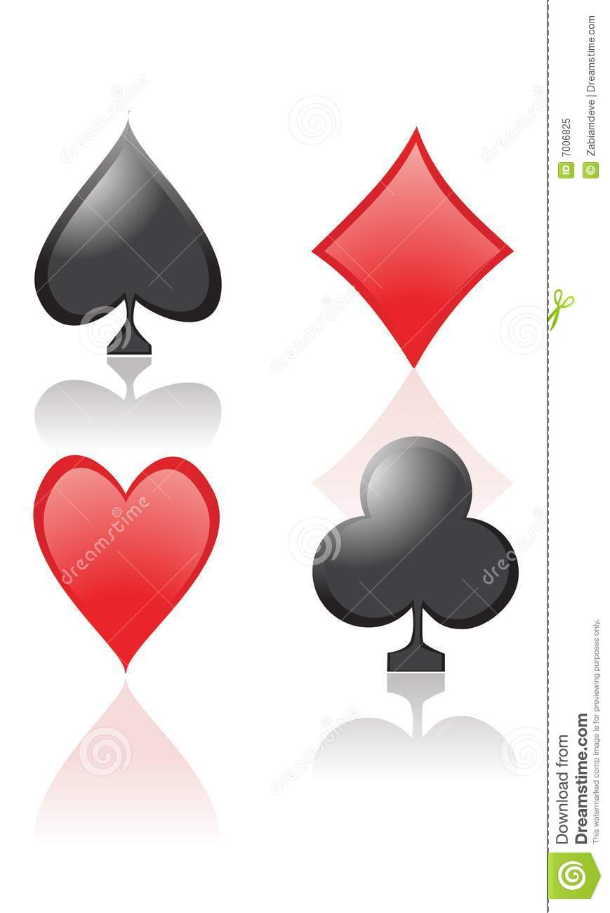 Playing Card Symbols Stock Vector. Illustration Of Luck