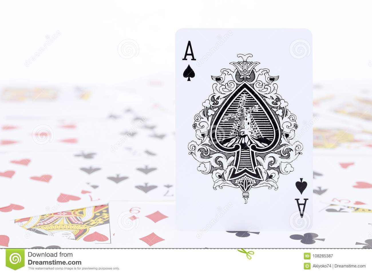 Playing Cards Ace Of Spade Stock Image Image Of Winner 108285387
