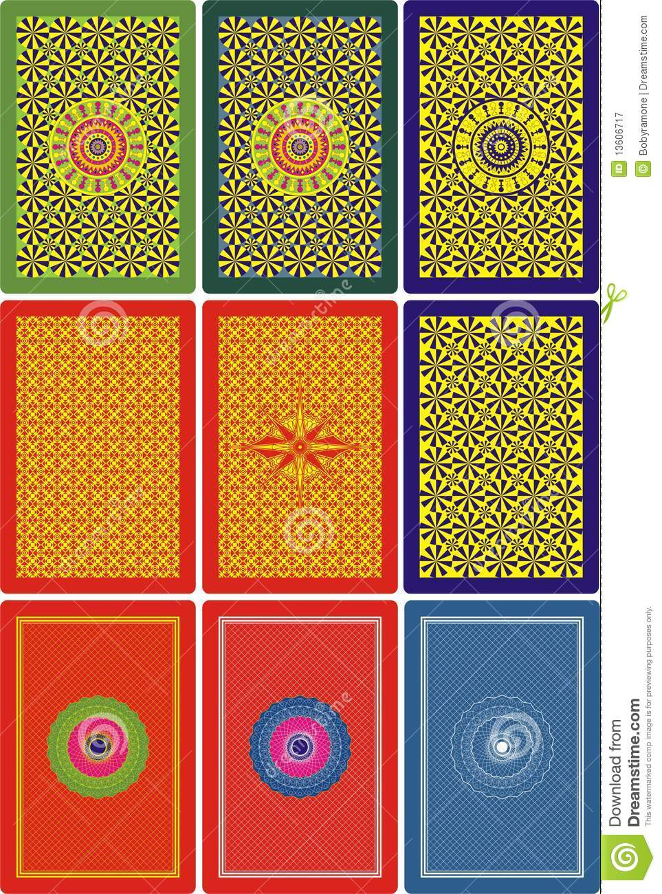 Playing cards back side 60 x 90 mm