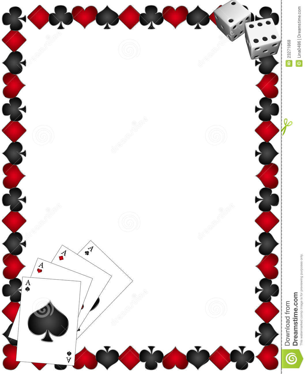 Playing Cards With Border Royalty Free Stock Photos - Image: 23271868
