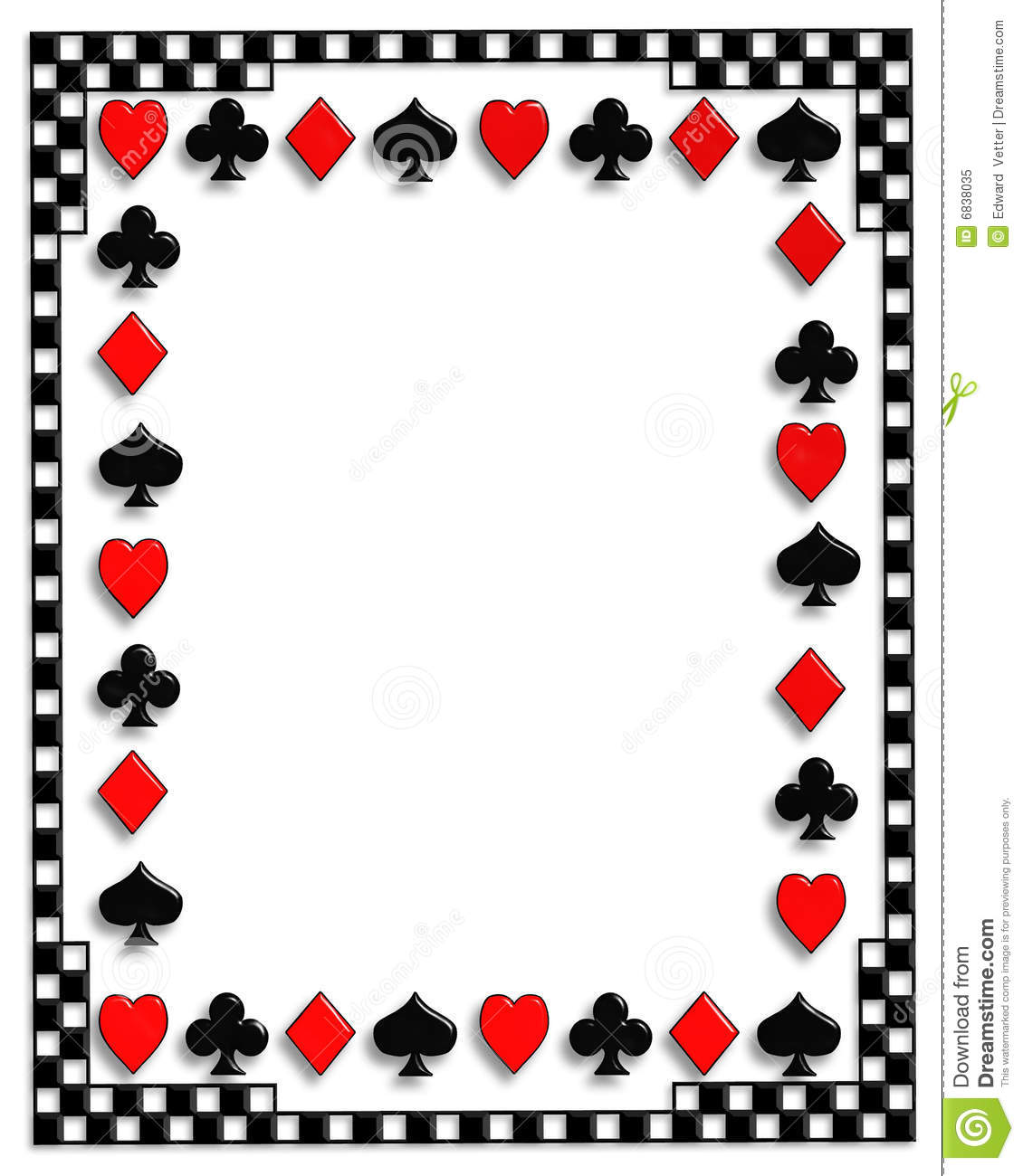 Playing Cards Border Poker Suits Royalty Free Stock Photo - Image ...