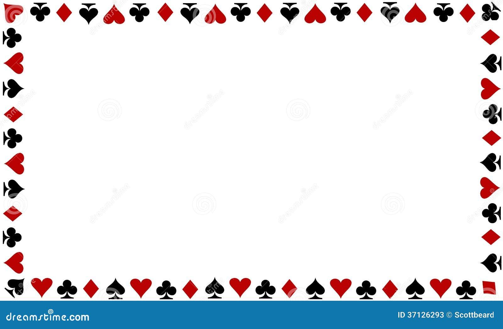 Playing Cards Border On White Background Stock Photos - Image ...