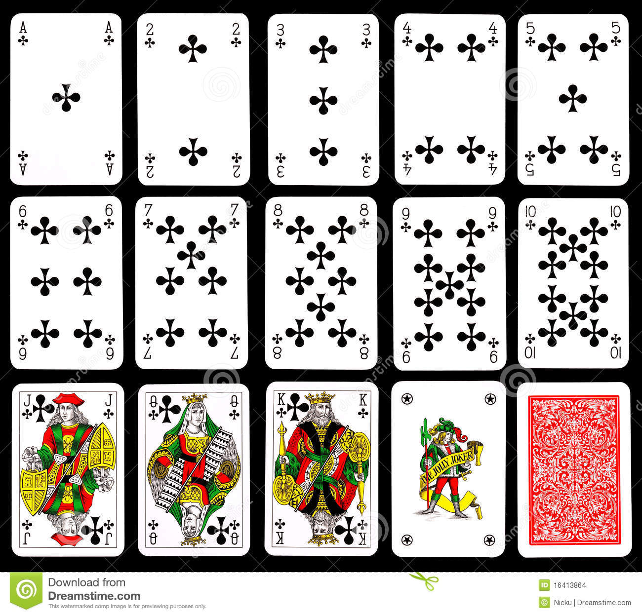 Playing Cards Clubs Stock Images Image 16413864