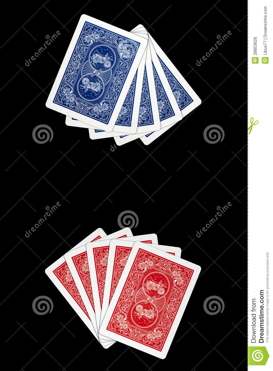 Playing Cards - Face Down Cards Royalty Free Stock Image ...