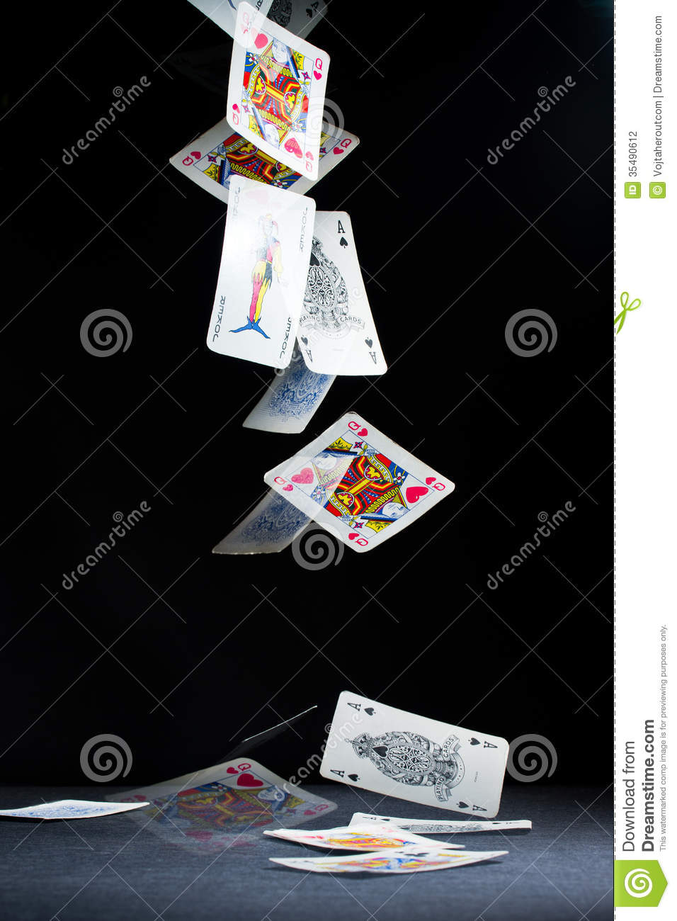 Playing Cards Falling Stock Photo Image Of Luckiness