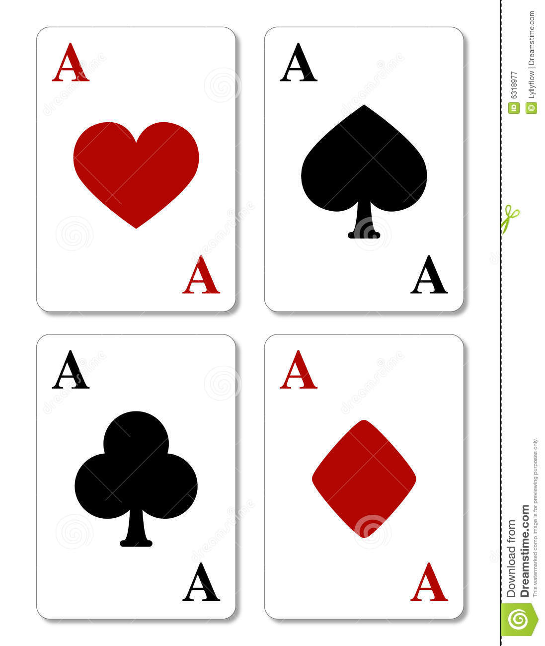 images of 4 aces cards pics