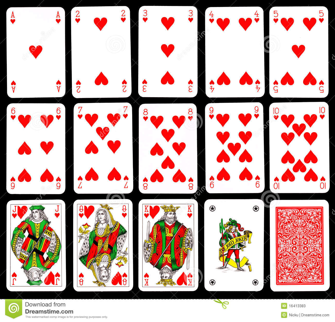 Playing Cards - Hearts Stock Photos - Image: 16413383
