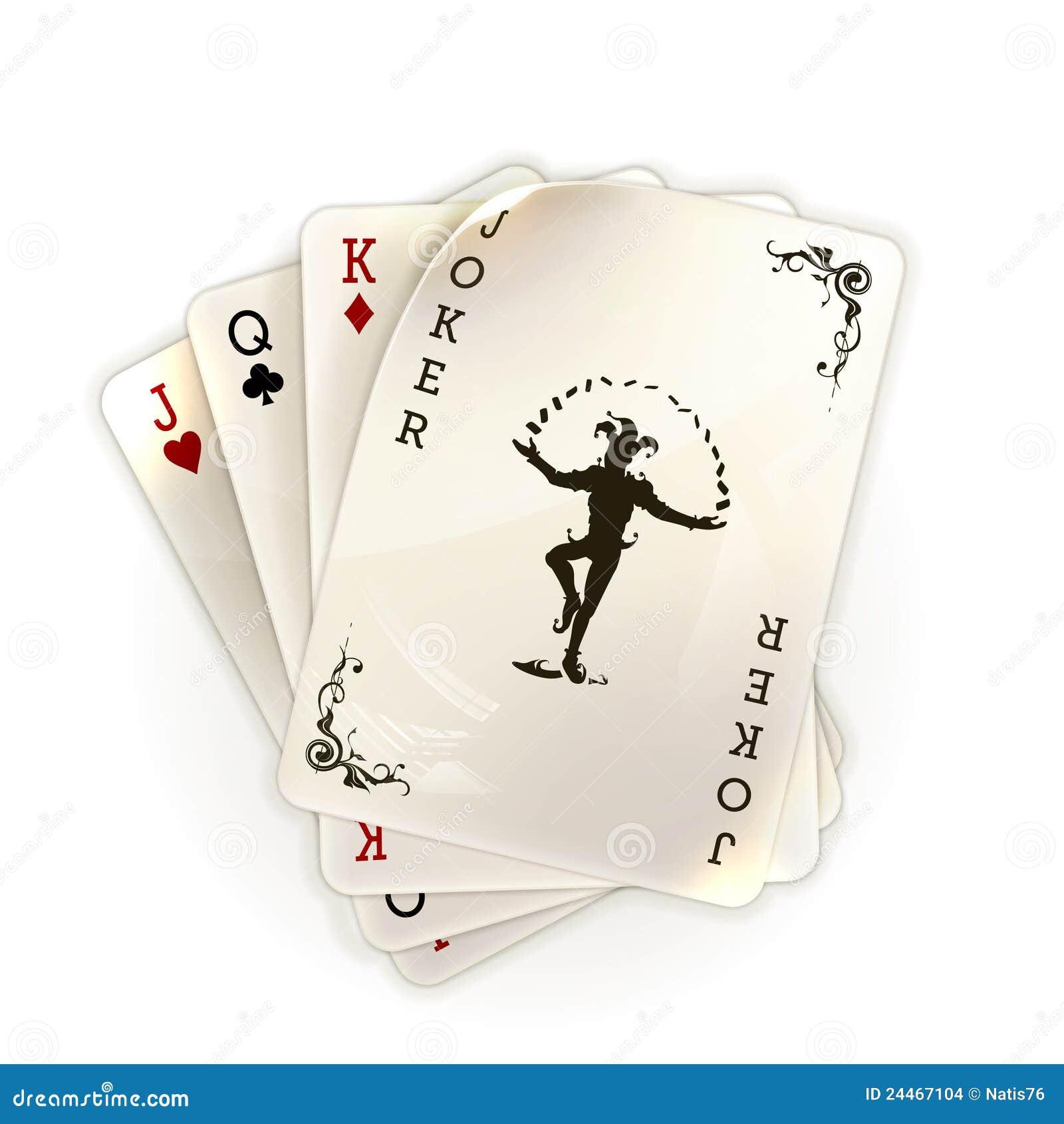 vintage joker playing card