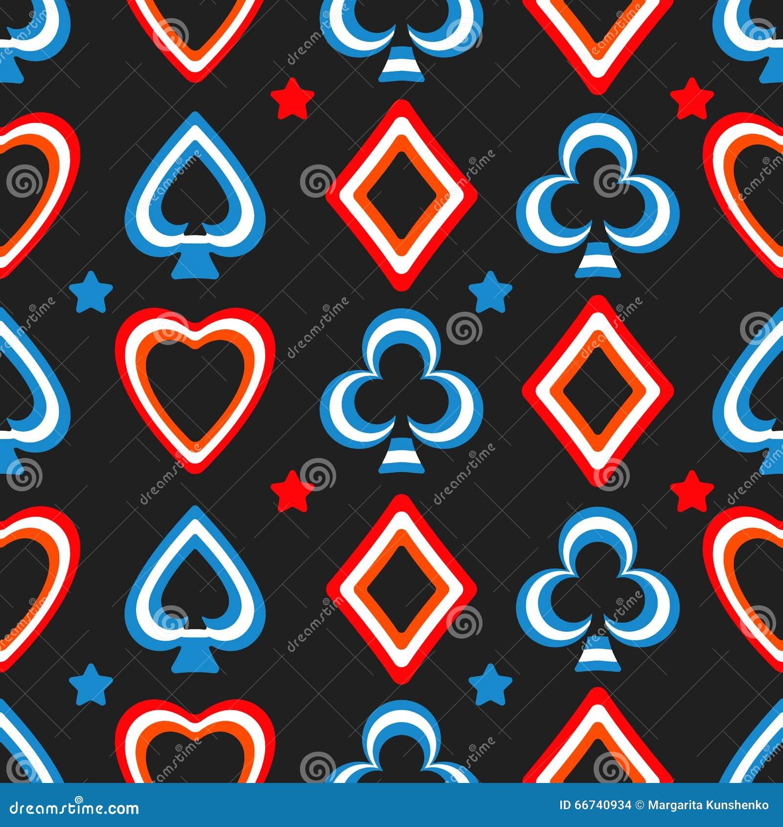Playing cards pattern stock vector. Illustration of joker ...