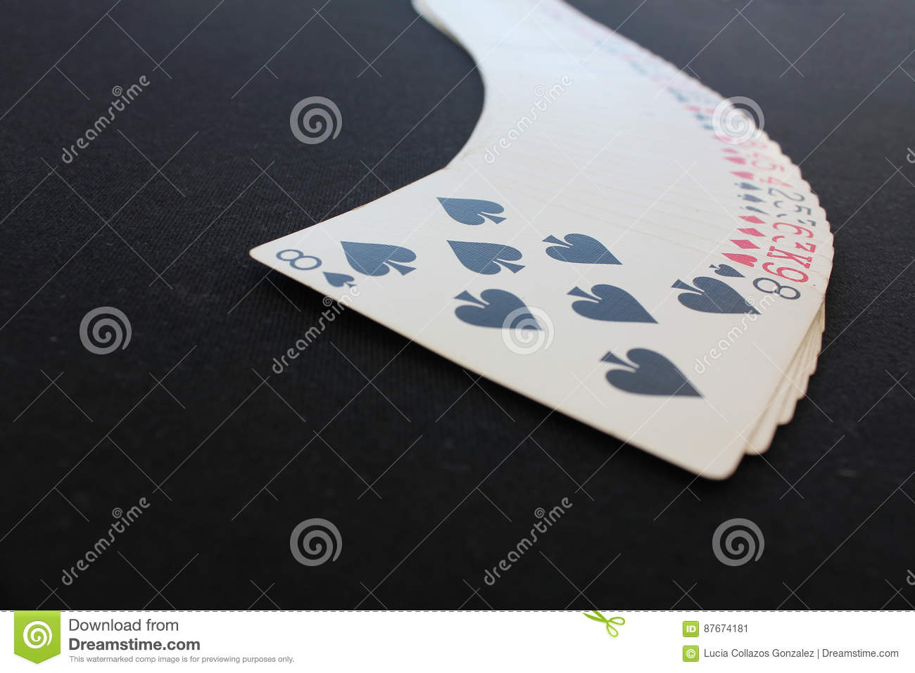 Poker table background - Playing Cards Poker Casino Isolated On Black Poker Table Background