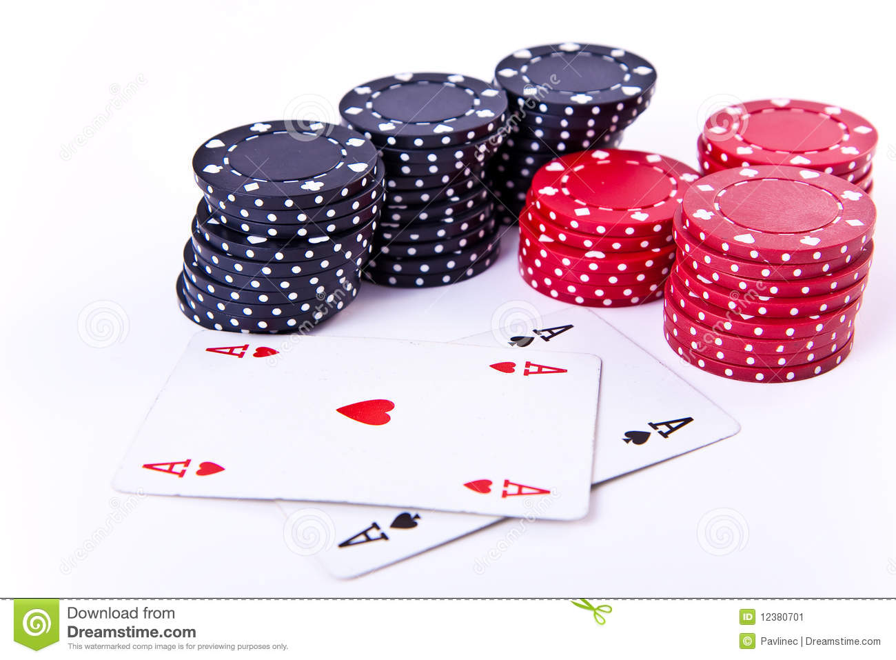 playing cards and poker chips stock image image 12380701