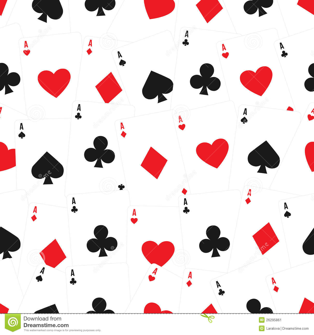 Playing Cards Seamless Background Pattern Stock Image - Image ...