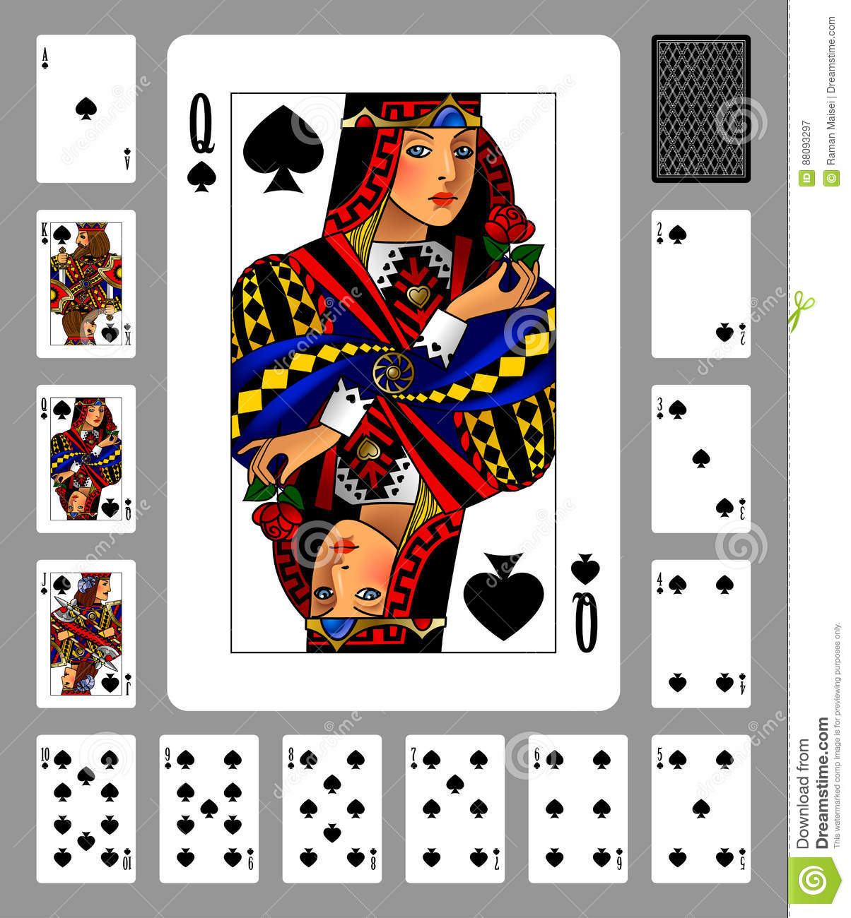 Classic Playing Cards - Spades Stock Photography | CartoonDealer.com #18354584
