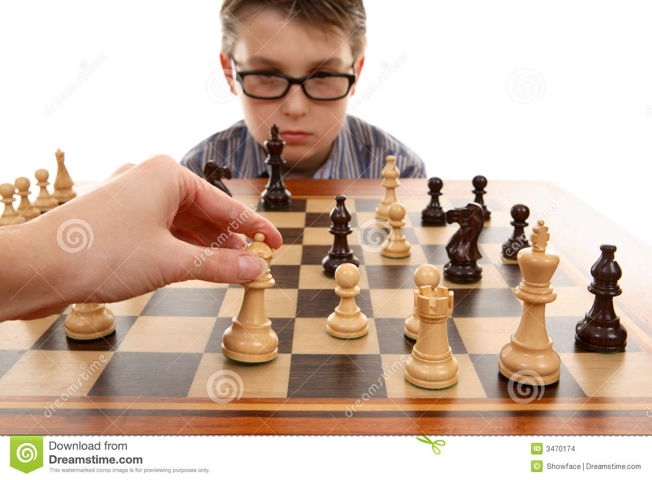 Playing Chess Stock Images - Image: 3470174