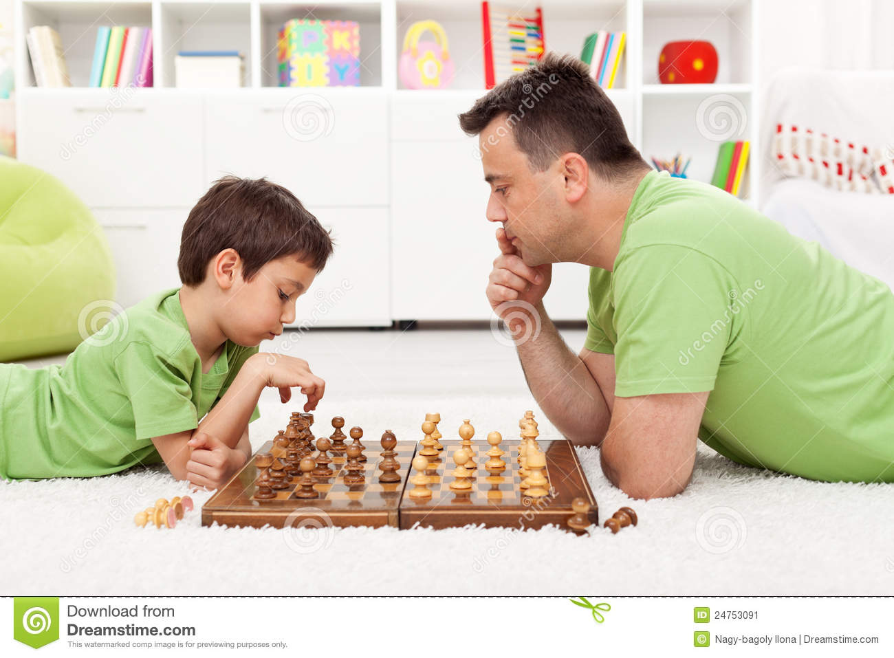 Playing Chess With Dad Stock Image Image 24753091