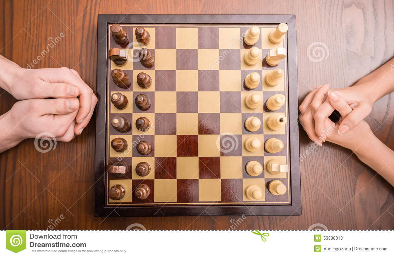 Playing chess stock photo  Image of knight, chess, choice