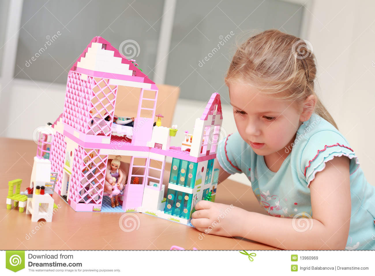 Playing with doll s house