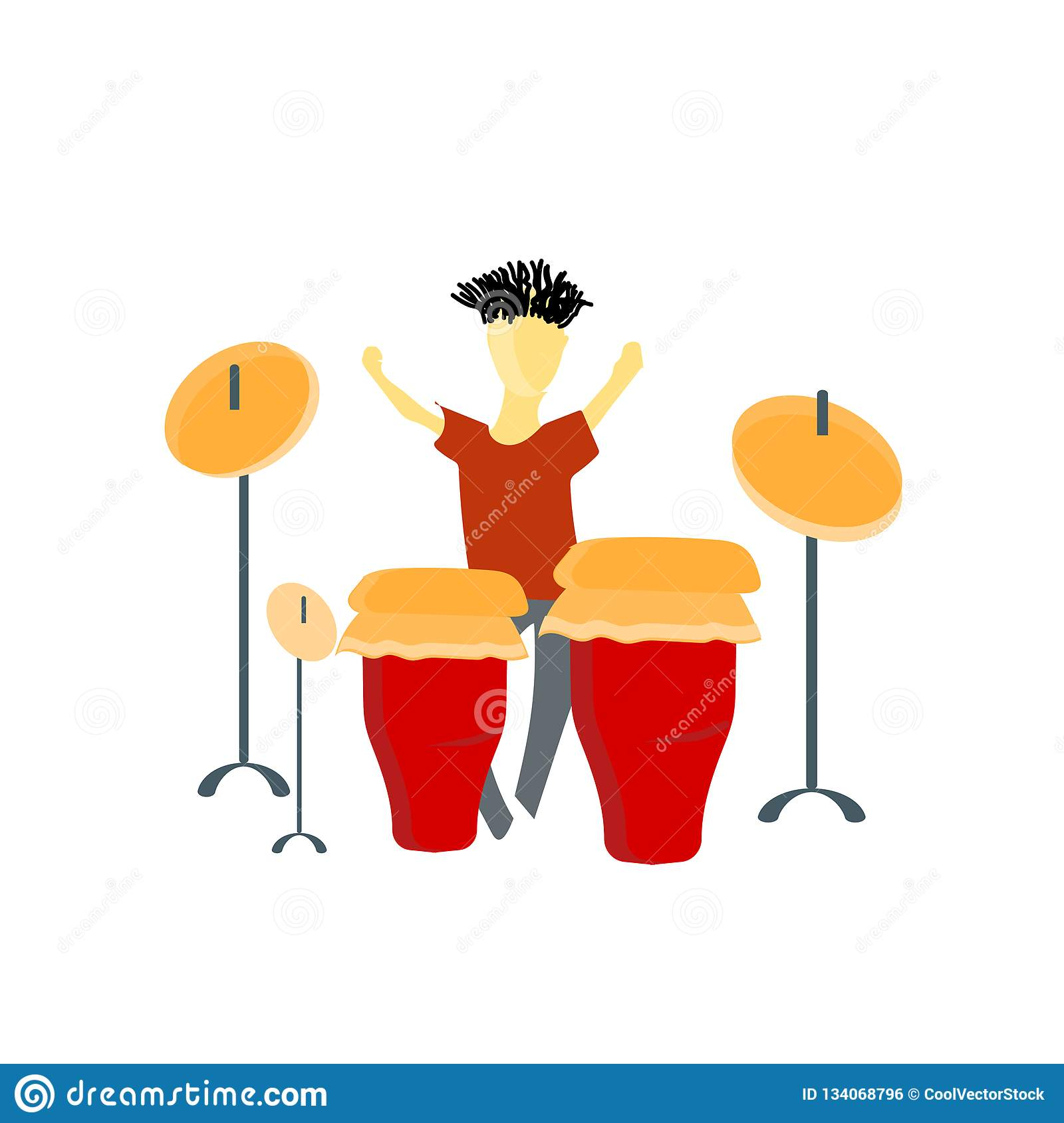 Playing electronic drums vector vector sign and symbol isolated on white background, Playing electronic drums vector logo concept