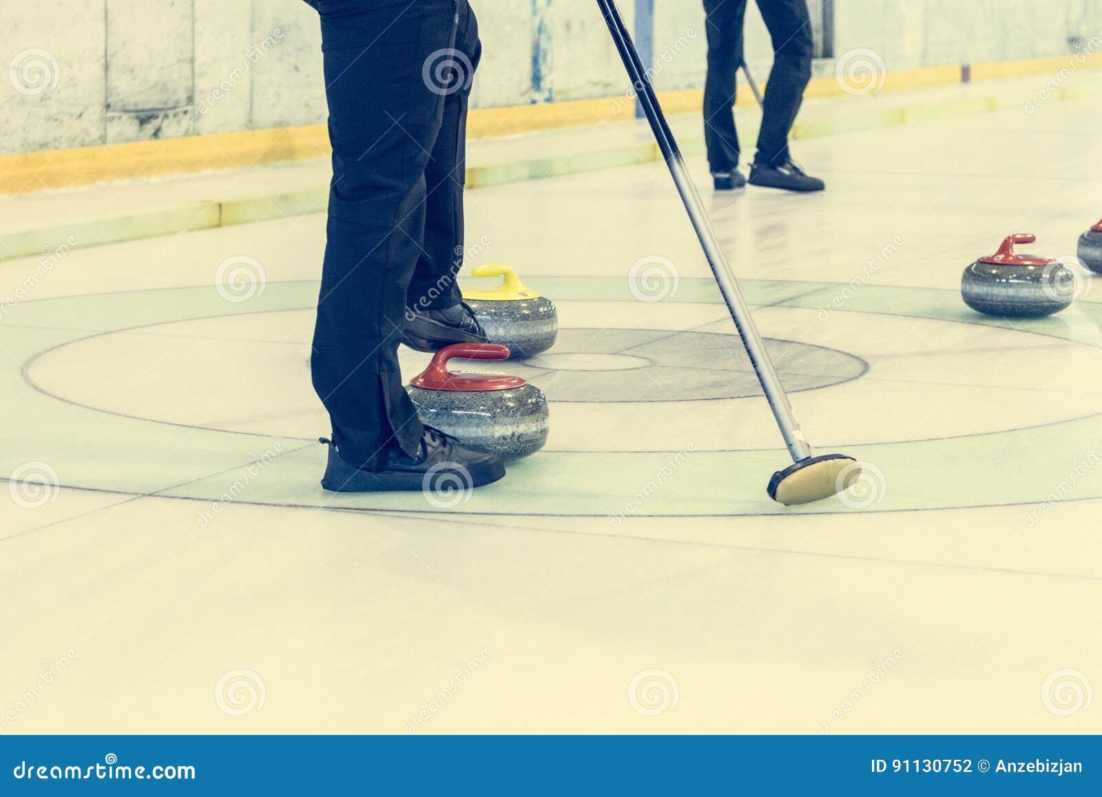 Curling Game Sport Royalty Free Cartoon Cartoondealer