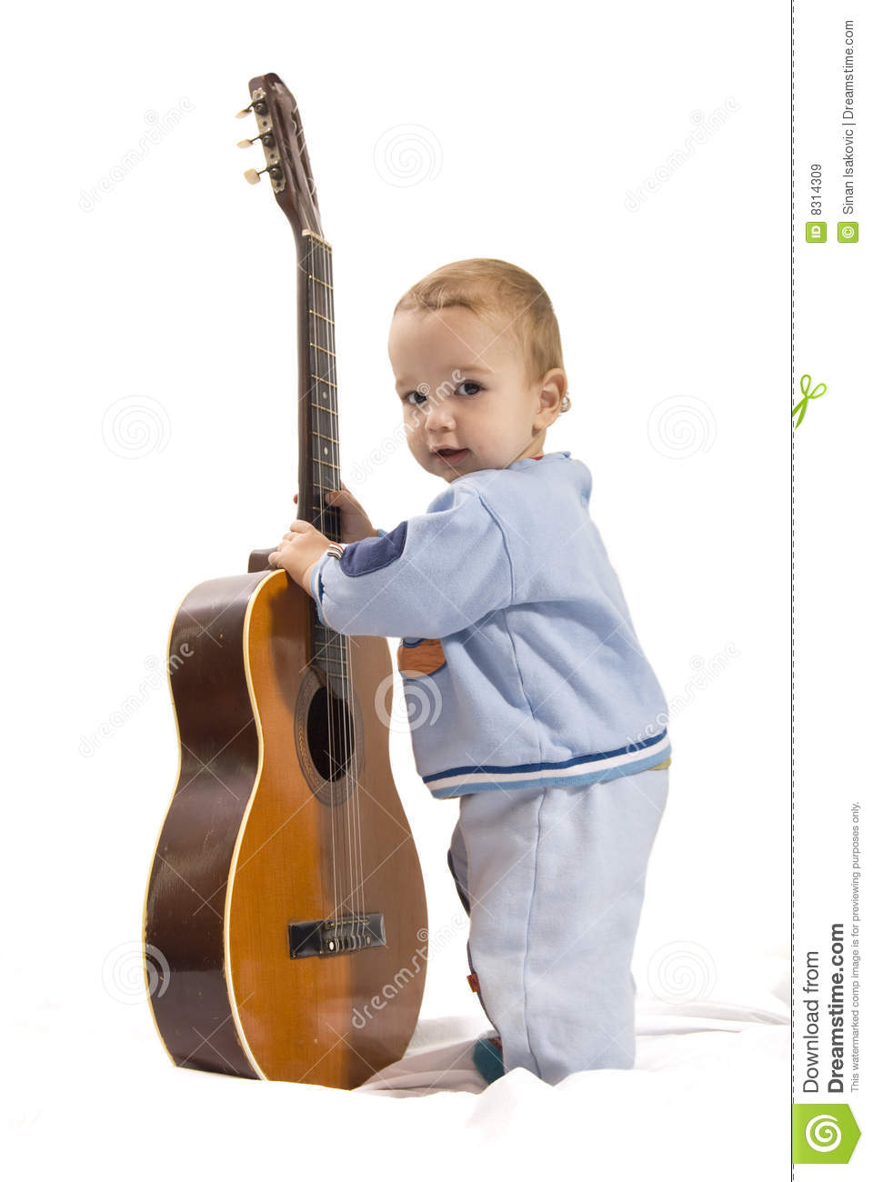 Playing guitar stock image  Image of birthday, friendship