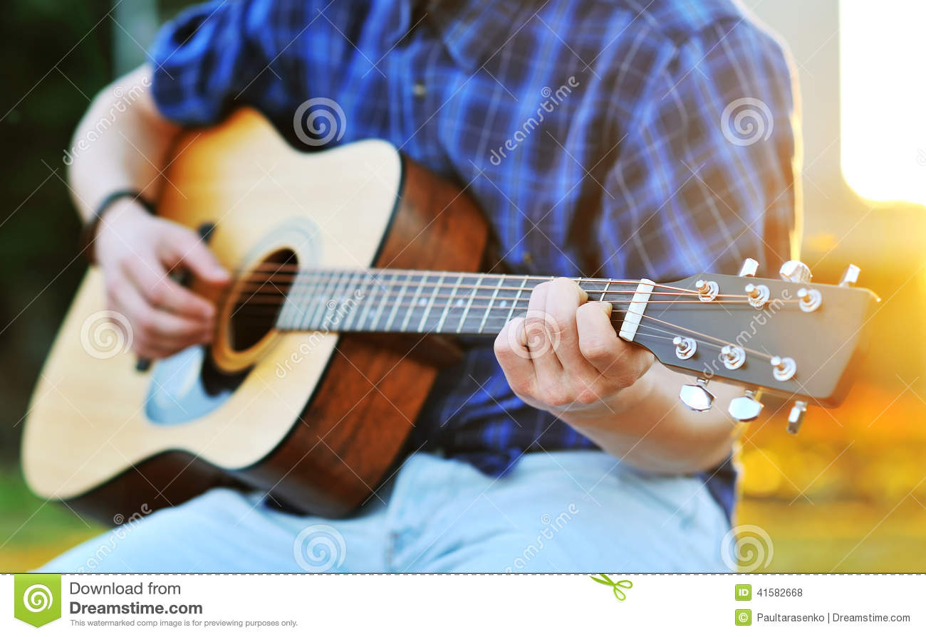 Playing Guitar C Chord Stock Photo Image Of Fretboard 41582668