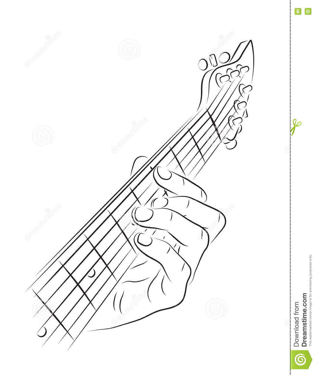 Playing Guitar Chord Stock Vector Illustration Of Strings 73925163