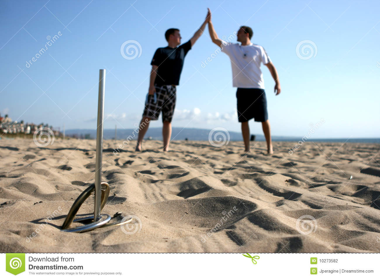 Playing horseshoes stock photo image of accomplishment for Where to buy used horseshoes