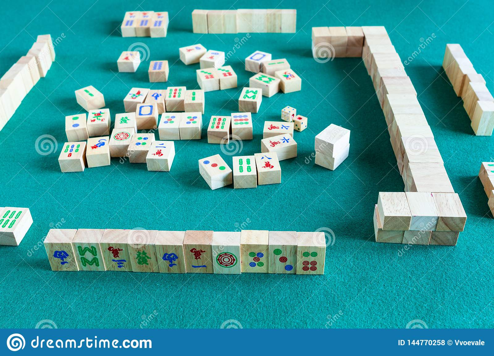 Playing In Mahjong Board Game Stock Photo Image Of Japan